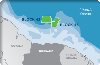 Kosmos Energy Suriname Block 42 Block 45