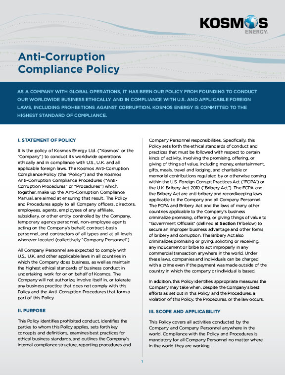 Anti-Corruption Compliance Policy
